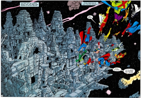 """Crisis on Infinite Earths"" features one enormous action set piece after another."