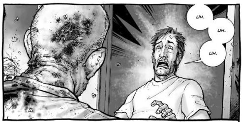 "Tony Moore brings stomach-churning gore to ""The Walking Dead""."