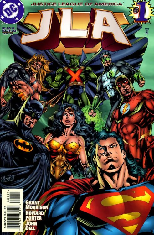 "The Big Seven return in Morrison and Porter's ""JLA""."
