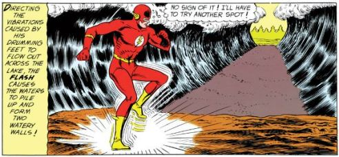 The Flash demonstrates some fancy footwork to take out Starro's deputy.