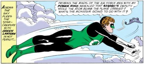 Green Lantern displays his lesser-known power of power ring telepathy.