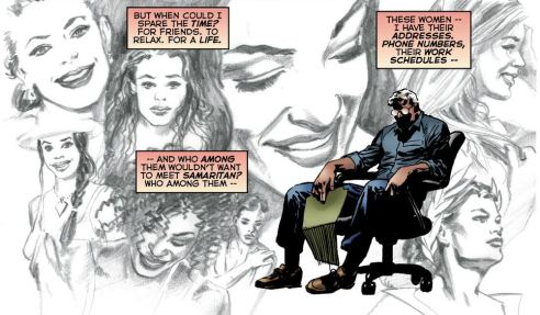 Samaritan ponders how he can open himself up to a relationship in this beautifully illustrated panel by Anderson.