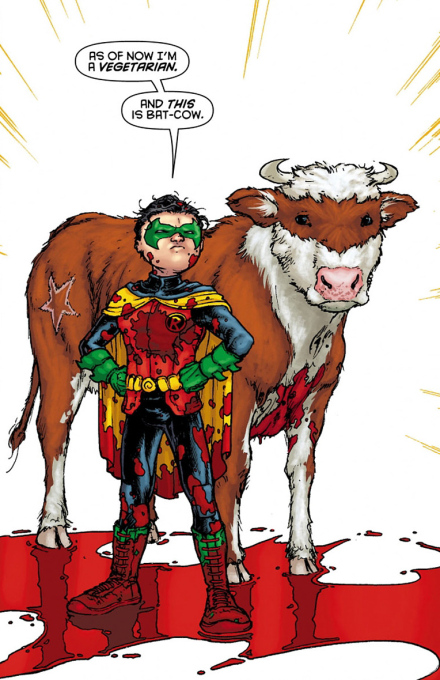 The first bloody appearance of Bat-Cow