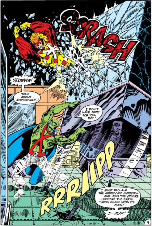 The Martian Manhunter vs. Firestorm by Broderick.