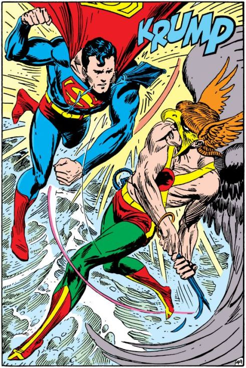Superman vs. Hawkman by Kubert.