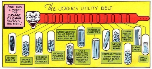 The Joker's utility belt!
