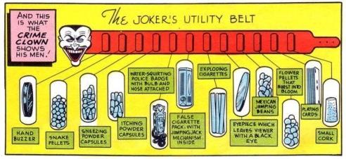 The Joker's utility belt!