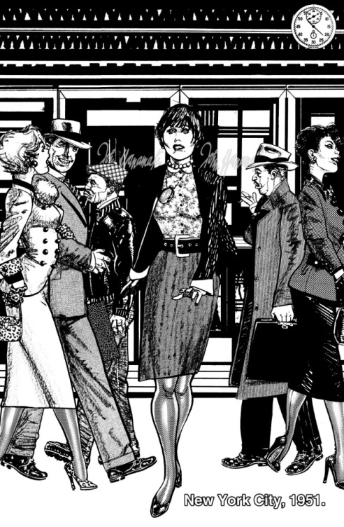 Chaykin stunningly recreates the glamor of 1951 New York City.