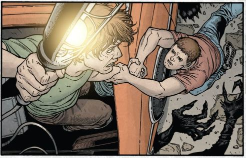 "Tyler and Duncan fight to stay alive in ""Alpha and Omega""."