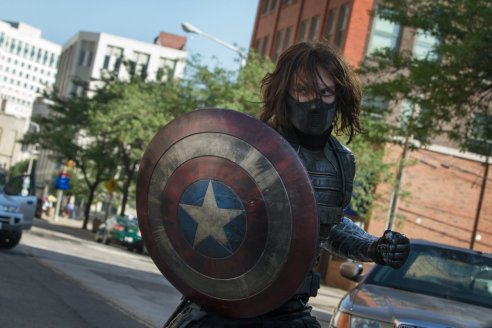 The Winter Soldier (played by Sebastian Stan) is a formidable for Captain America.