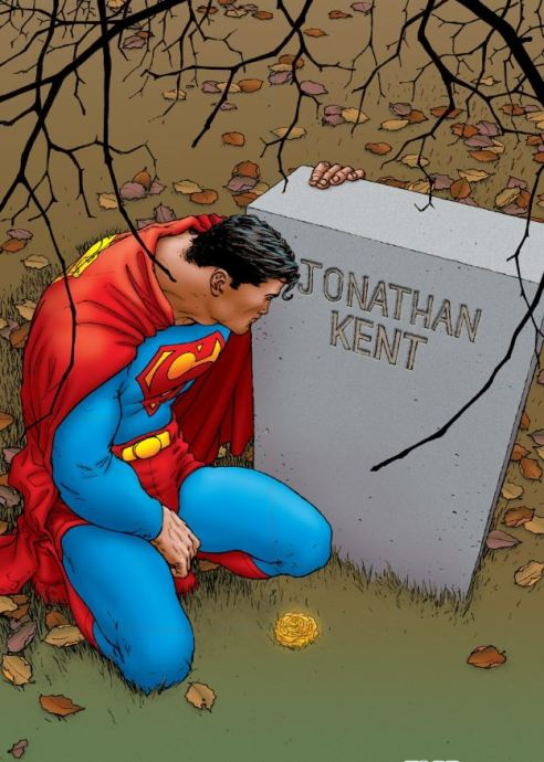 Superman says farewell to his adopted father.