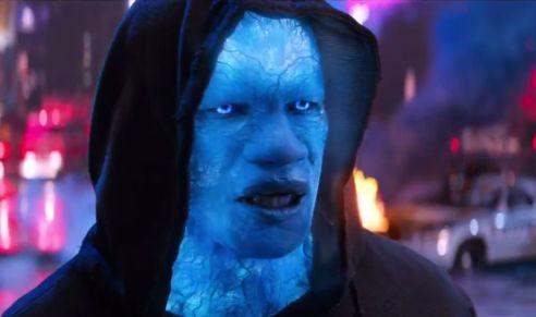 Foxx is virtually unrecognizable as the monstrous villain, Electro.