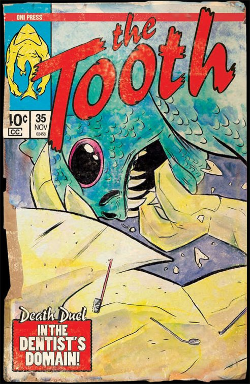 "Here's just one of the fun covers by Matt Kindt interspersed throughout ""The Tooth""!"