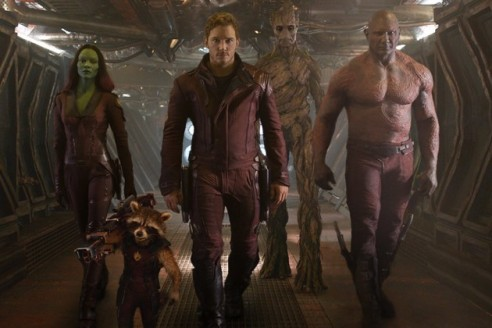 The Guardians of the Galaxy prepare for battle.