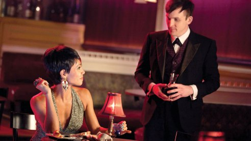 Fish Mooney (Pinkett Smith) and Oswald Cobblepot (Taylor) share a love of crime, but that's about it.