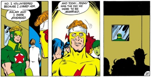 Kid Flash realizes too late that Starfire is no monster.