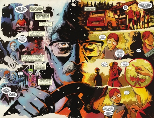"Francavilla illustrates one of the most memorable scenes from ""The Black Mirror""."