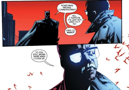 "Commissioner Gordon gets accustomed to a new Batman in ""The Black Mirror""."